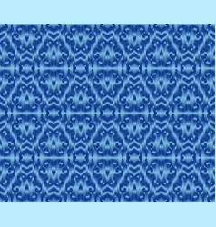 Indigo dyed ikat seamless pattern elegant vector