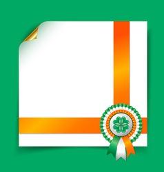 Irish document template vector