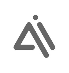 letters ai ai logo multi colour icon vector image