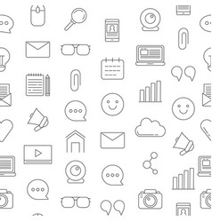 Line blog icons pattern or background vector