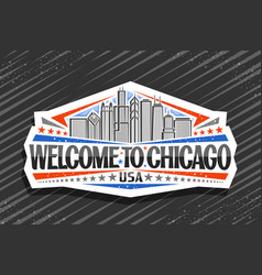 logo for chicago vector image