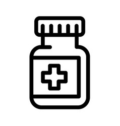 medical capsule jar icon vector image
