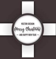 merry christmas dark color background vector image