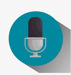 Microphone retro isolated icon vector