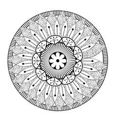 Monochrome and circular mandala vector
