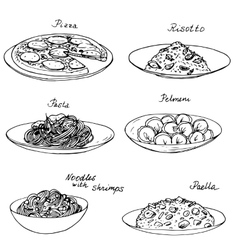 National dishes set vector