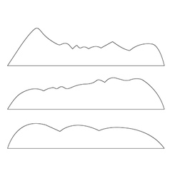 Paths of Mountains set on the white background vector