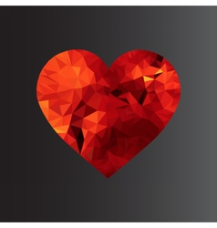 polyheart vector image