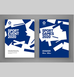 Poster layout design for sport event invitation vector