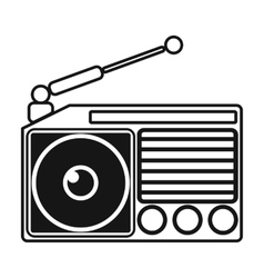 Radio icon in black style isolated on white vector image