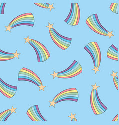 Rainbow colorful seamless pattern vector