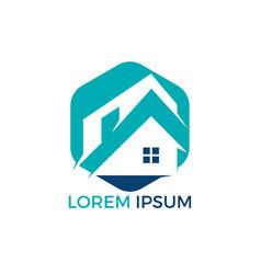 real estate logo design vector image