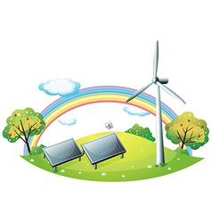 Renewable energy background vector
