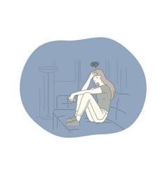 Sadness mental depression bad news concept vector