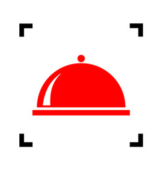 server sign red icon inside vector image