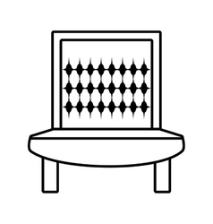 sofa furniture house relax outline vector image