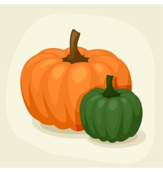 Stylized of fresh ripe pumpkins vector