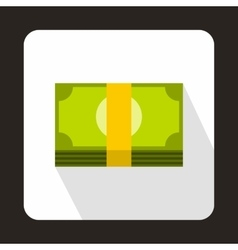 Swiss Franc banknote icon flat style vector