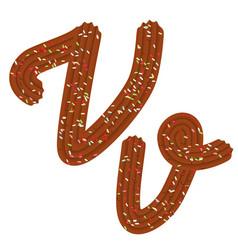 tempting tipography font design 3d letter v of vector image