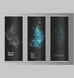 The editable layout of roll up banner vector