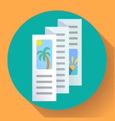 three-fold brochure icon flat style vector image