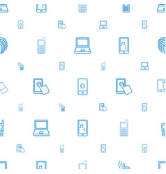 touch icons pattern seamless white background vector image