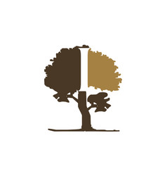 tree letter i vector image