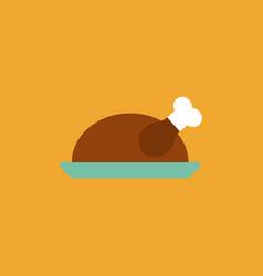 Turkey icon sign happy thanksgiving concept vector