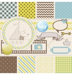 Vintage Design Elements for Scrapbook with vector
