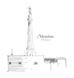 freehand digital drawing of messina italy vector image vector image