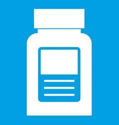 medicine bottle icon white vector image