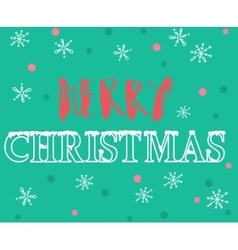 Merry Christmas hand lettering Handmade vector image