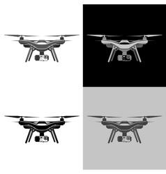 air drone quadrocopter aerial icon set vector image
