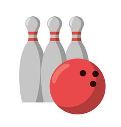bowling ball pin sport vector image