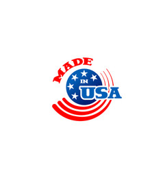 sign made in usa vector image