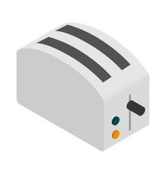 Toaster icon isometric 3d style vector image vector image