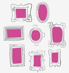 fun pink frames vector image
