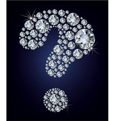 question-mark shape made up a lot diamond vector image vector image