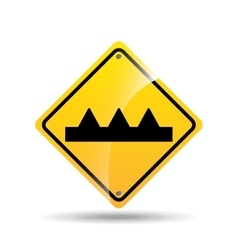 road sign warning icon design vector image