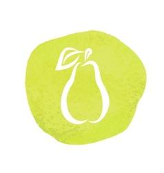 sketch of pear vector image