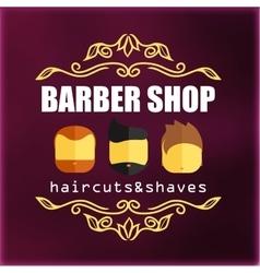Vintage barber shop signage vector image vector image