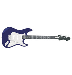 An electric guitar with strings vector