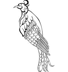 decorative bird icon vector image vector image