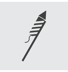 Firework rocket icon vector image