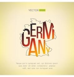 germany map in vintage design German vector image vector image