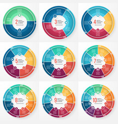pie chart circle infographic templates vector image vector image