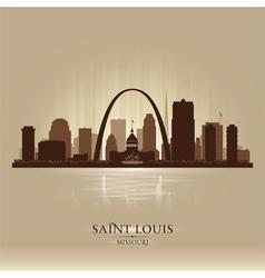 Saint Louis Missouri city skyline silhouette vector image