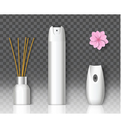 Air freshener packaging spray bottle home vector