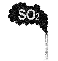 Artistic drawing of smokestack industry or vector