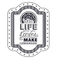 Attitude phrase about life inside frame design vector image